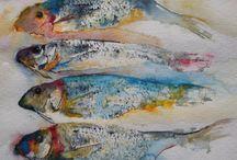 Målningar: Fiskar