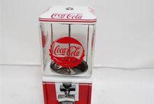 Coca cola 1 cent  gumball machine