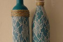 DIY Lace bottles
