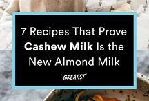 Kešu - mlieka, zmrzliny...
