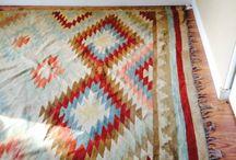 dywan w azteckie wzory