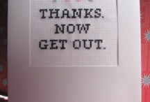 Maries board / Cross stitch words