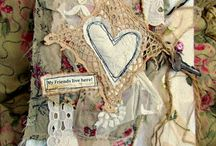 Mixed Media Fabric Collages / Beautiful altered art / by Cross My Heart Bags On Etsy
