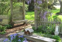 garden fences,gates,trellis,fountains etc / by Carolyn Bonner
