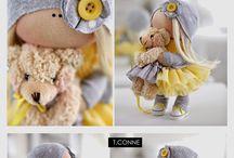 textilne babiky a hracky