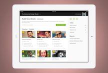Tablet apps design