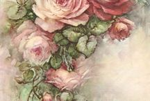 Рисунки цветов.