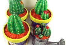 Cactus garden / Painting
