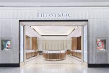 Tiffany & Co / Tiffany & Co, Heathrow T5 - Magnolia Eglomise Panels
