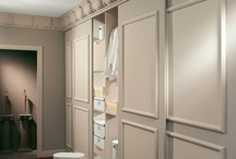 Creating beautiful mdf doors for my wardrobe stencil trim wallpapered door / IKEA is ok but needs some zing!