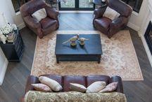 Diagonal wood flooring