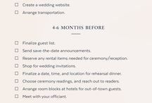 Wedding 101 / Wedding checklist and ideas