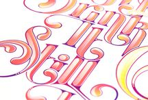 Hand drawing typography