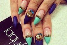 DIY uñas puntiagudas