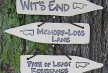 Funny signs for house and garden