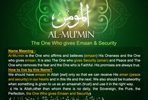 Al -Mu'min The One who gives Iman and Aman(Security)