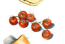 Acuarelas cocina