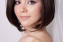 Bridal hair- short