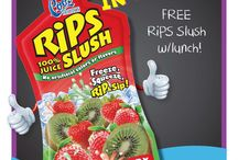 Cool Tropics Promo / Monthly flyers to help promote Cool Tropics RiPS Slush at your schools!