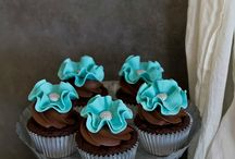 Cupcakes / A very small cake that is baked in a pan shaped like a cup