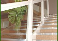 Glass Staircases / Staircases with glass parts can make a really interesting feature of a room. Glass is a great way to maximise light in a space and provides a really contemporary look.