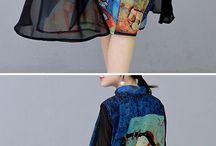 vestidos pintados silk