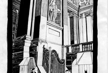 ink drawing ROME