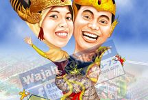 caricature  / Caricature faces for souvenirs and ornaments. Booking: +6285648612673. Email: karikaturlucu@yahoo.com. Facebook: http://www.facebook.com/wajah.karikatur