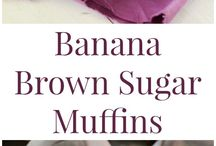 Banana brown sugar  muffins