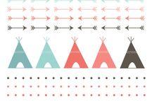 kamp / tent logo