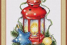 haft krzyzykowy Boze Narodzenie