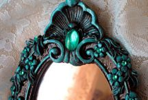 Painted and bejeweled mirrors