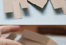 Manualidades cajas. carton y más