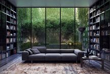 Home Libraries for the Book Lovers' Dream Home / A cup of tea, a good book and a gorgeous home library. Every book-lovers dream.
