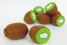 Felted half naked kiwi fruit