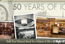 """50 Years of Iconic NYC Pinterest Contest / It's as easy as 1,2,3 to participate:  1. Create a """"50 Years of Iconic NYC"""" Pinterest board.  2. When you see a new pin challenge clue, pin a photo or video associated with the subject of the clue to your board. There will be 10 clues total through June 28. 3. When you Pinterest board is complete, you must post a link to your Pinterest board on our Facebook Timeline to be considered for the grand prize. See https://www.facebook.com/NYHiltonMidtown for all details & rules."""