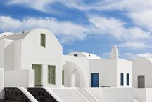 Thermes Villas Architecture / Whitewashed walls and blue colors. Property is simple yet chic, traditional yet luxurious with a sense of space, style and colorful ambience...  #Santorini #luxury #Villas http://goo.gl/XMJfiE