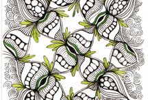 Crafts: Zentangle Patterns & Ideas / by Cindy Hehmann