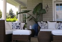 HOME... deck decorating / living out doors in the sunshine and fresh air