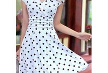 vestido  polka o de lunares