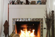 Fireplace With Mexican Tile Accents Tile Ideas Pinterest