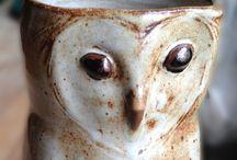 keramika - sovy a ptáci