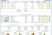Budget Spreadsheet / Budget spreadsheet for personal finance in simple to use Microsoft Excel templates.  Easy home budgeting for individual or family use. Digital Download.