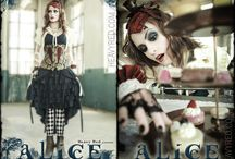 Halloween Goth costumes, dresses, corsets