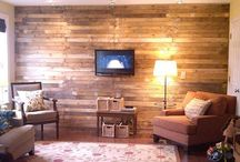 Pallet Wall / DIY wood pallet wall design ideas and pallet wall art for home and office.