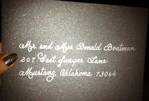 Sooner Calligraphy's Wedding Invitation Addressing by Hand