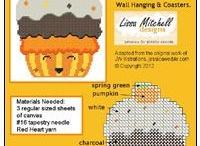 Cupcake plastic canvas