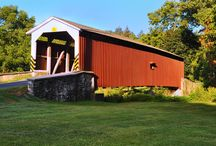Covered Bridges of Lancaster County / Images of covered bridges that can be found in our home county of Lancaster, PA. Lancaster has 29 covered bridges, the highest number of any county in Pennsylvania. They are all beautiful works of design and architecture.  / by Rutt HandCrafted Cabinetry