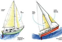 Boat, sail rigging, rope