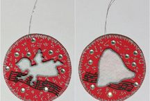 Christmas Tree Ornaments / A selection of handmade ornaments to adorn your Christmas tree